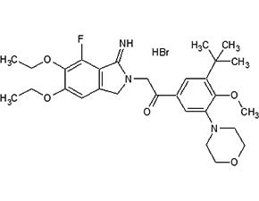 Atopaxar hydrobromide 结构式